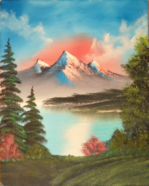 Bob Ross Art Class Paintings