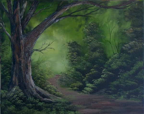 Forest Edge Painted By Alicia Smith
