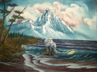 Bob Ross® Mountain By The Sea