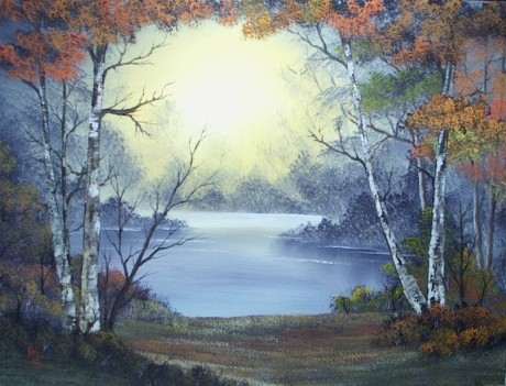 Splendor of Autumn Based on Bob Ross Oil Painting