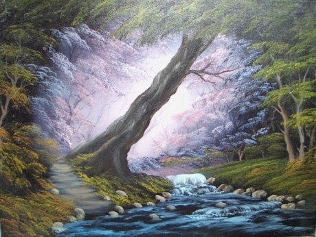 Serenity Oil Painting - Bob Ross Style