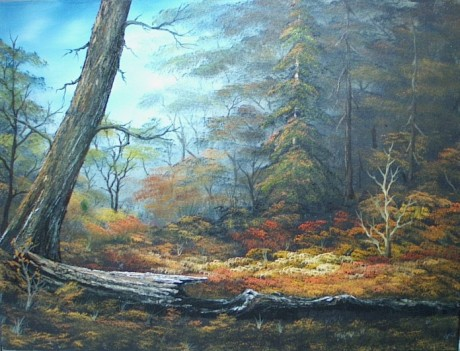 Indian Summer based on Bob Ross Oil Painting