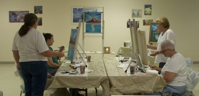 August Art Class at Clubhouse