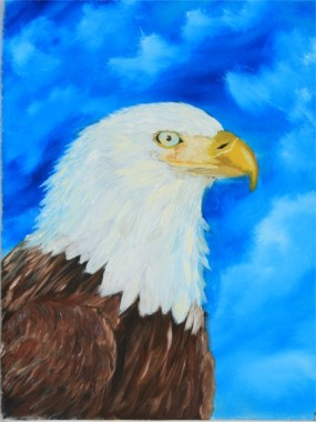 Alicia's First Eagle Painting