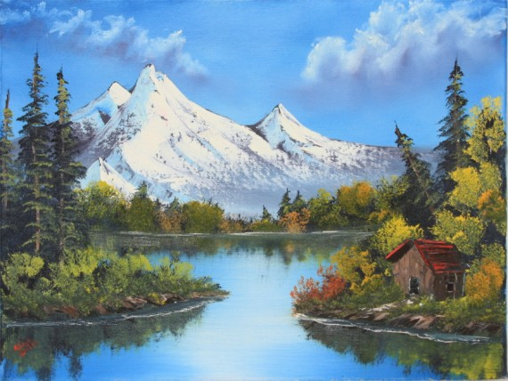 Bob Ross® Mountain Reflections