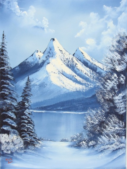 Winter in the Mountains Two Color