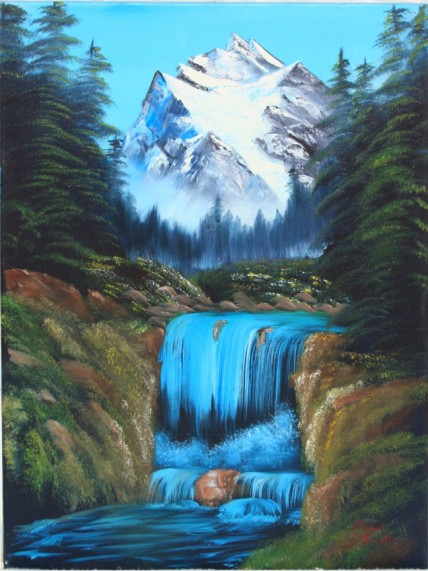Bob Ross® Valley Waterfall