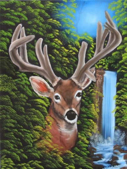 Wildlife Paintings | Wildlife Painting Classes Raccoon Painting