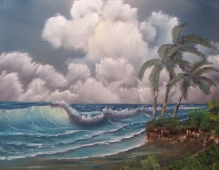 Windy Waves oil painting by Alicia
