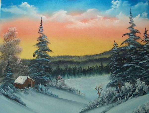 Bob Ross Art Class Paintings